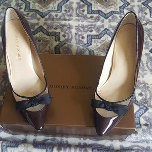 Audrey Brooke Burgundy heels